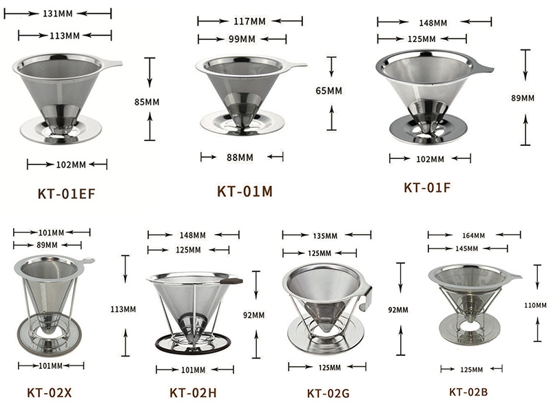 Stainless Steel Brew Drip Coffee Filters